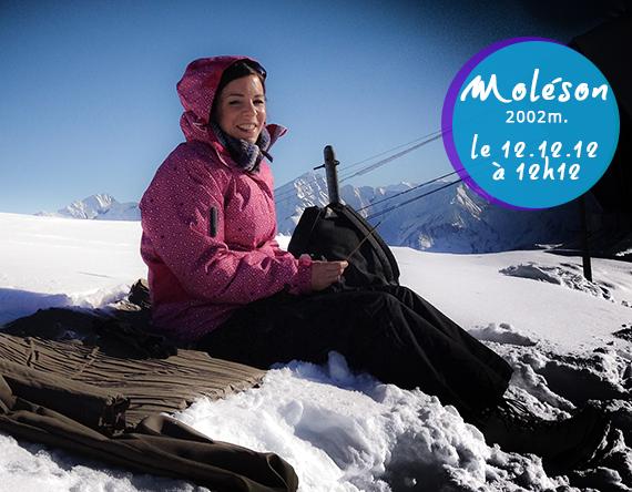 Ophélie thérapeute de l'âme au sommet du Moléson le 12.12.2012