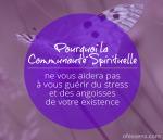 pourquoi la communauté spirituelle ne vous aidera pas à vous guérir du stress et des angoisses de votre existence